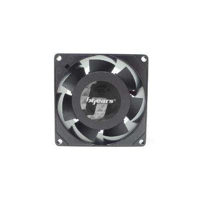 B-Blaster AC 80 mm x 38 mm 2-Ball Bearing High Speed 2900RPM 100-125-Volt AC Fan in Black