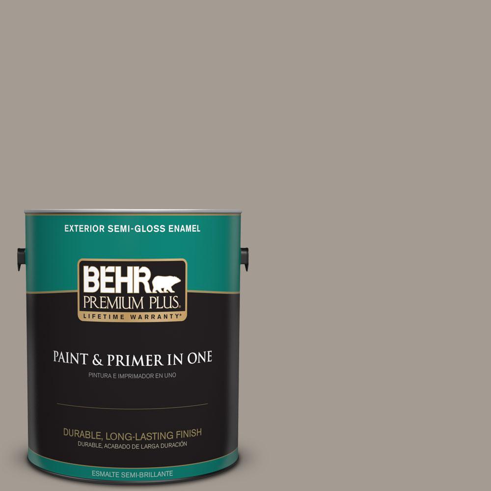 1-gal. #BXC-54 River Pebble Semi-Gloss Enamel Exterior Paint