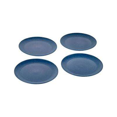 EVO Sustainable Goods 8 in. Blue Eco-Friendly Wood-Plastic Composite Plate (Set of 4)