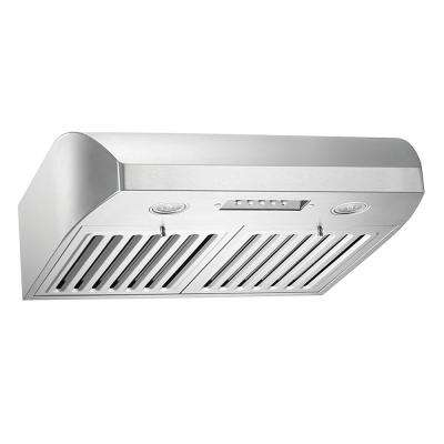 30 in. 680 CFM Stainless Steel Under Cabinet Range Hood with QuietMode from the Brillia Collection