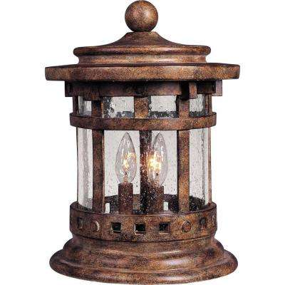 Santa Barbara DC 3-Light Sienna Outdoor Deck Lantern