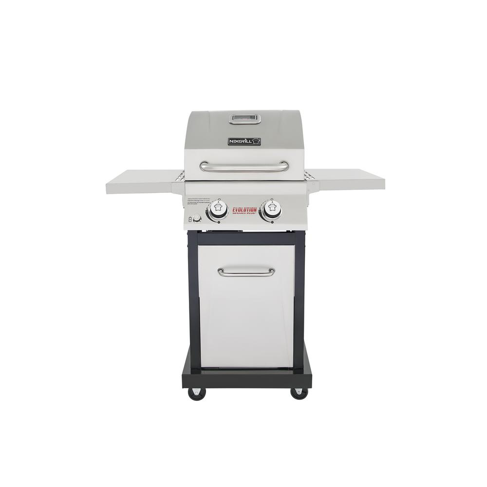 Nexgrill evolution 2 burner propane gas grill in stainless steel with infrared technology 720 - Home depot bbq propane ...
