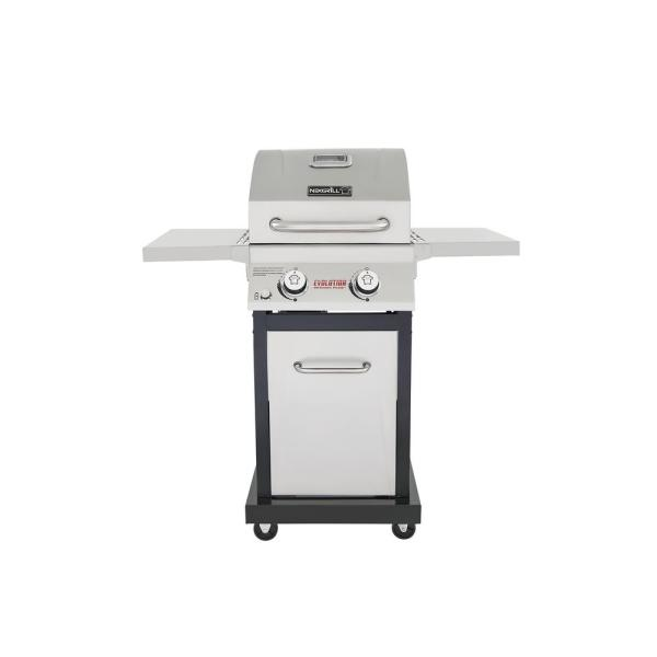 Nexgrill Evolution 2 Burner Propane Gas Grill In Stainless Steel With Infrared Technology 720 0864m The Home Depot