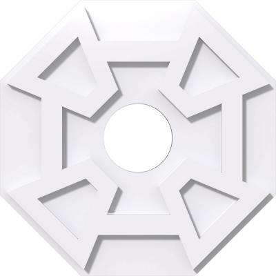 2 Piece ID Square Embry Architectural Grade PVC Contemporary Ceiling Medallion OD x 5 in Ekena Millwork CMP20EY2-05000 20 in