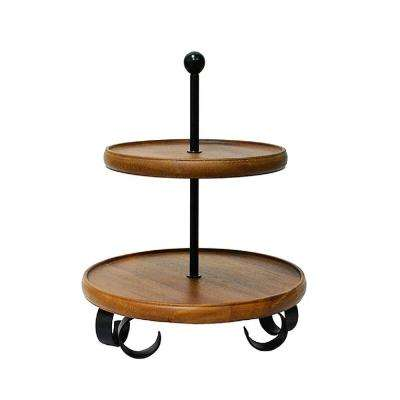 Henley Brown 2-Tier Server Stand