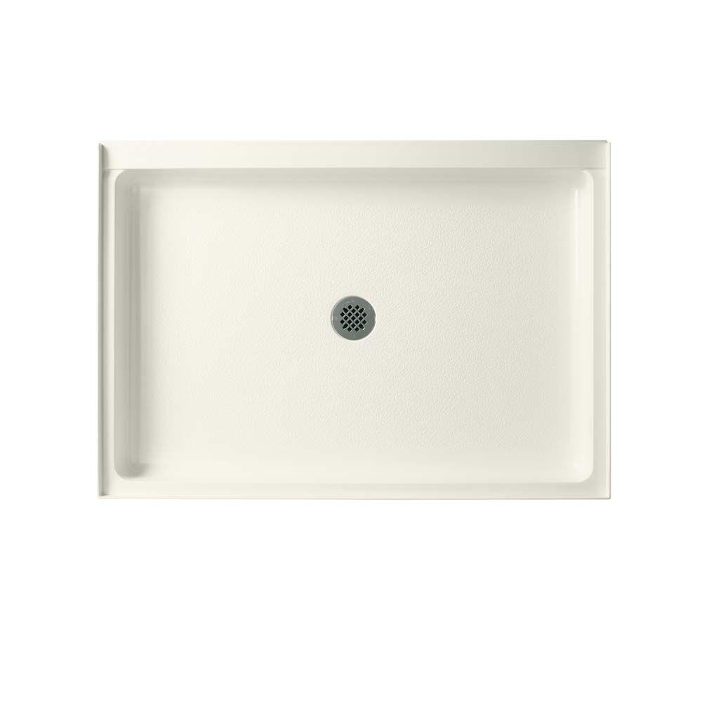 34 in. x 48 in. Solid Surface Single Threshold Center Drain