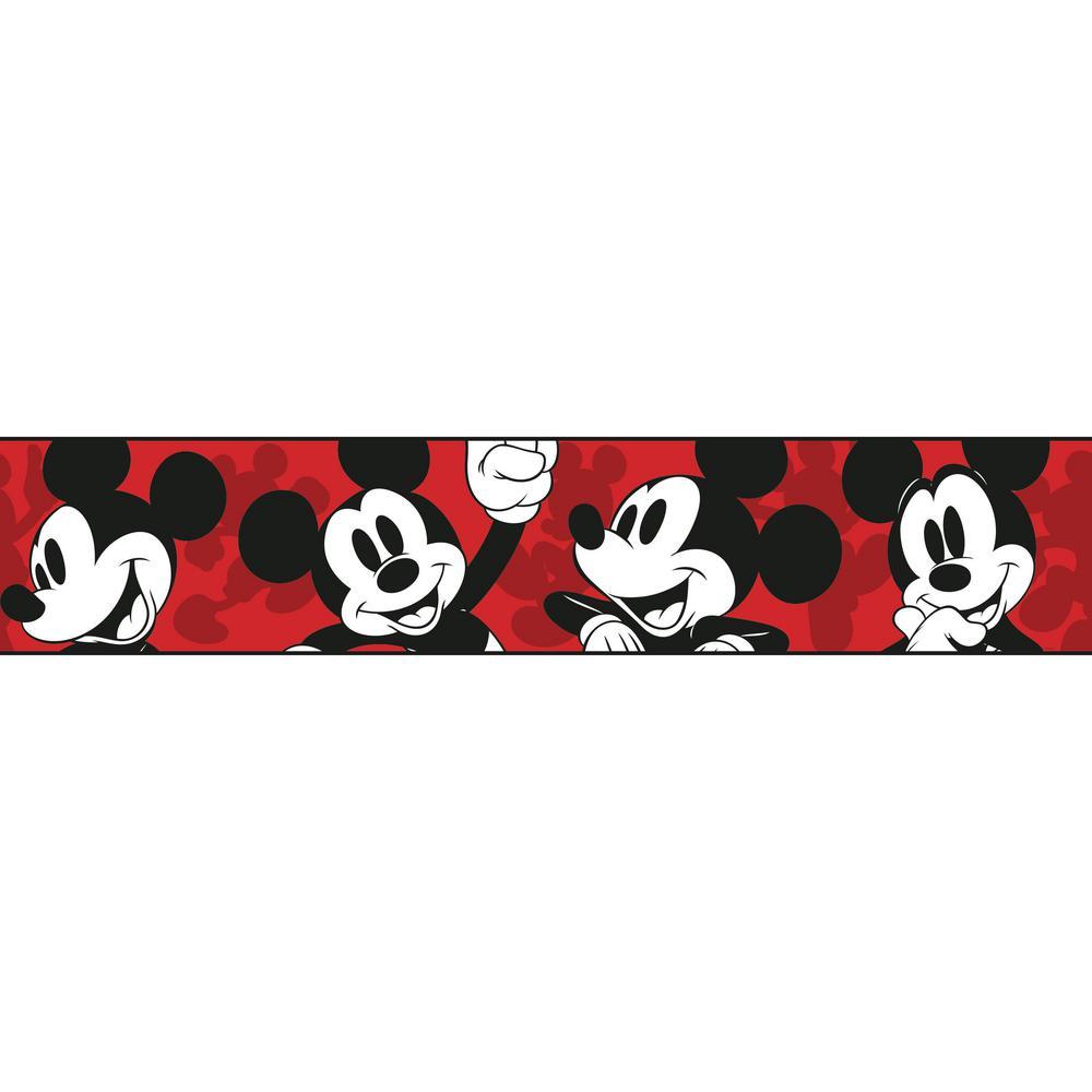 40583116b York Wallcoverings Disney Kids III Disney Classic Mickey Mouse Border