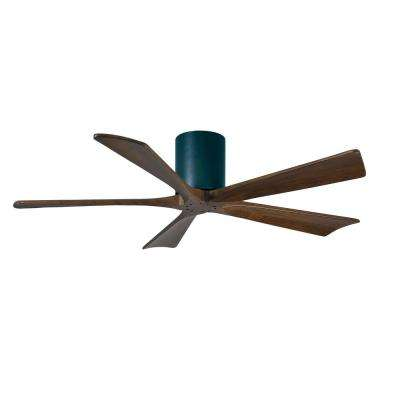 Irene 52 in. Indoor/Outdoor Matte Black Ceiling Fan with Remote Control and Wall Control