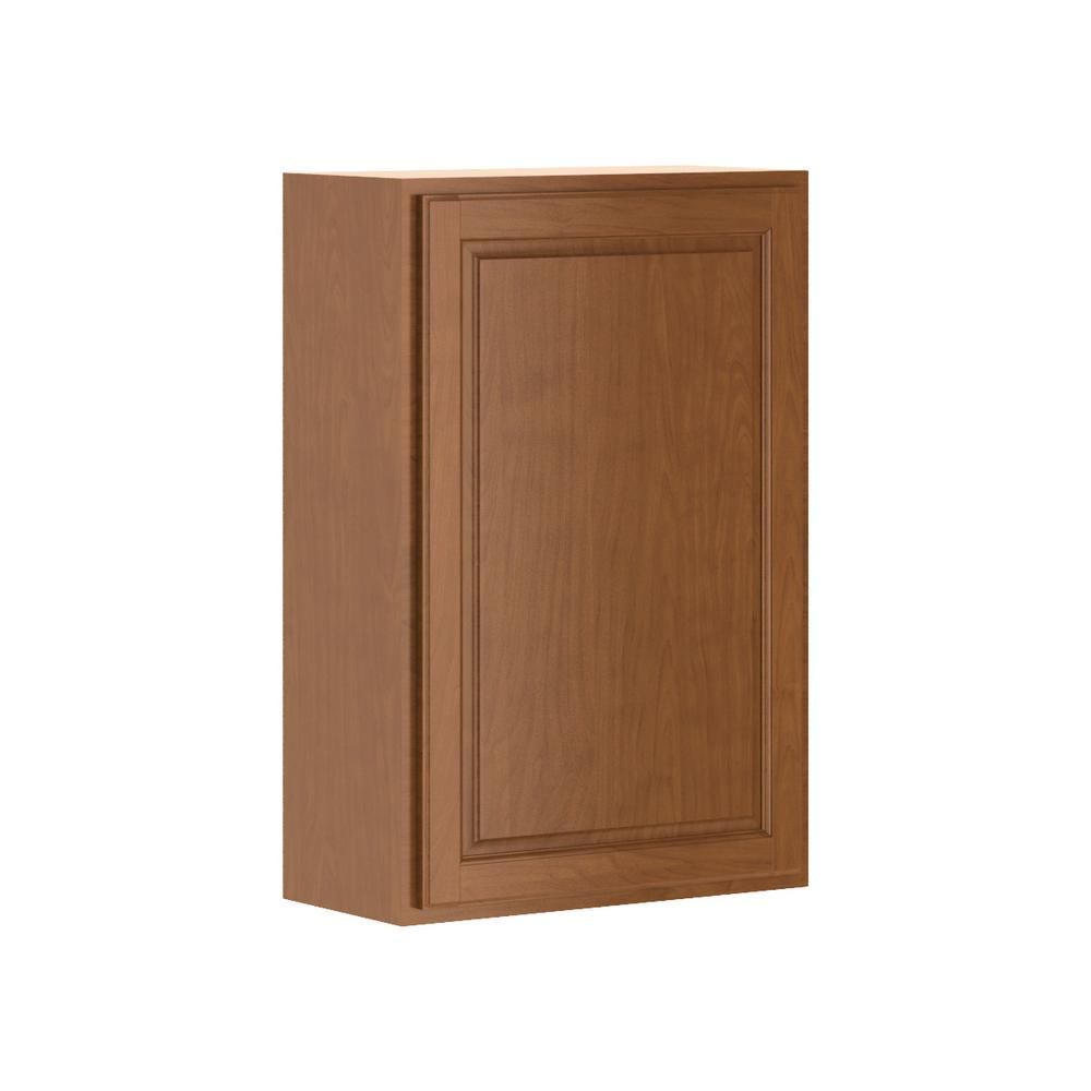 Hampton bay princeton shaker assembled 24x36x12 in wall for Assembled kitchen cabinets