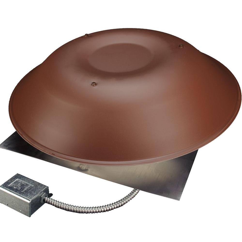 LomanCool 2000 800 CFM Brown Power Attic Vent