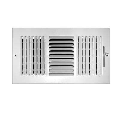 8 in. x 4 in. Steel 3 Way Wall/Ceiling Register