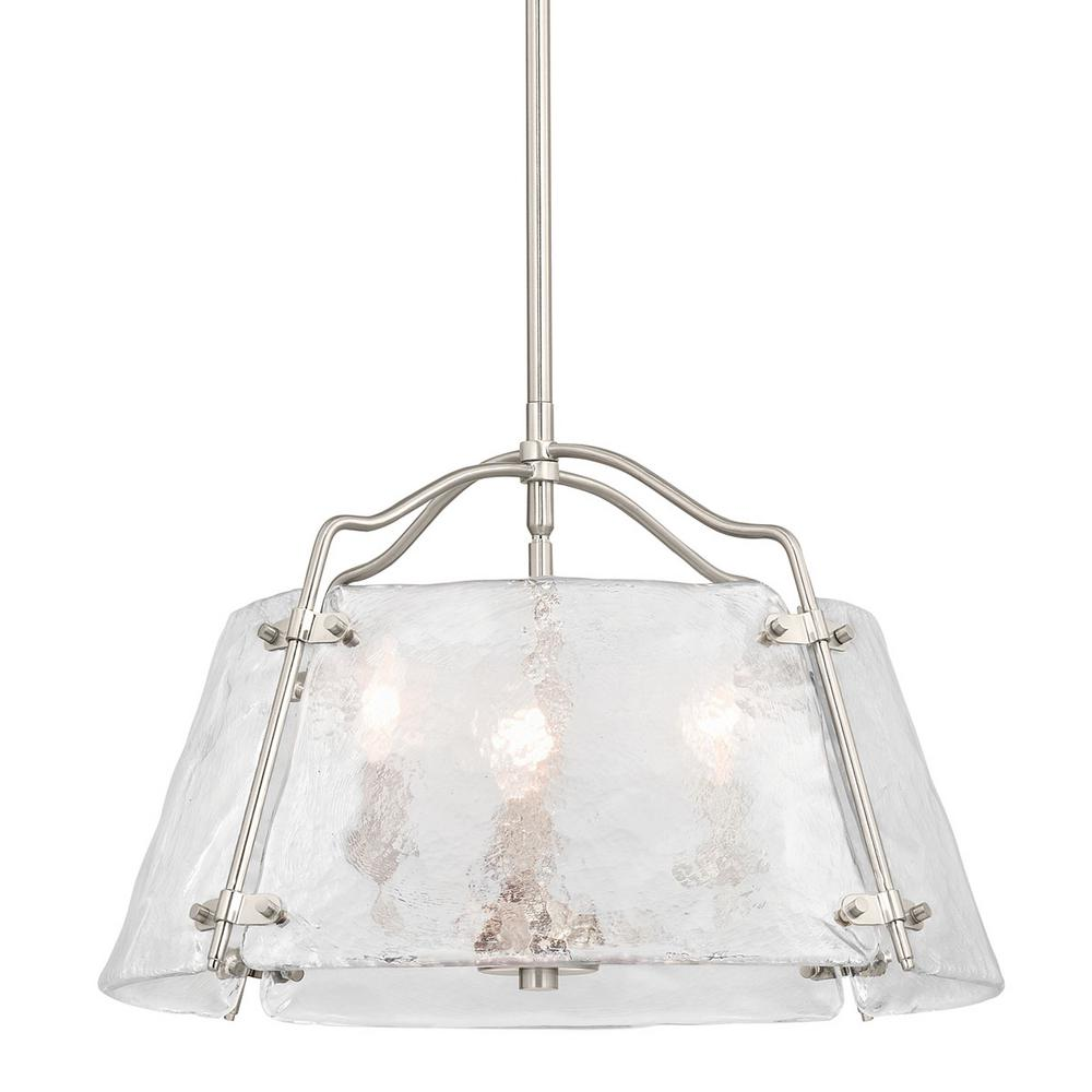 Home Decorators Collection Archdale 3-Light Brushed Nickel Pendant