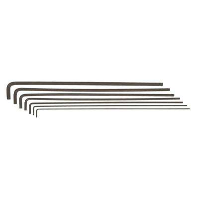 Standard Hex End 12 in. Long Arm L-Wrench Set with ProGuard Finish (7-Piece)
