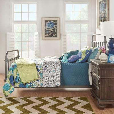 Calabria Grey Twin Bed Frame