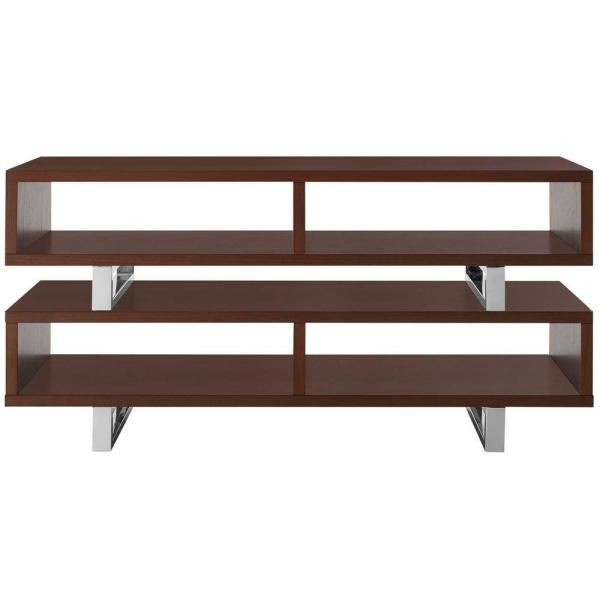 Amble 47 in. Walnut Wood TV Stand Fits TVs Up to 52 in. with Open Storage