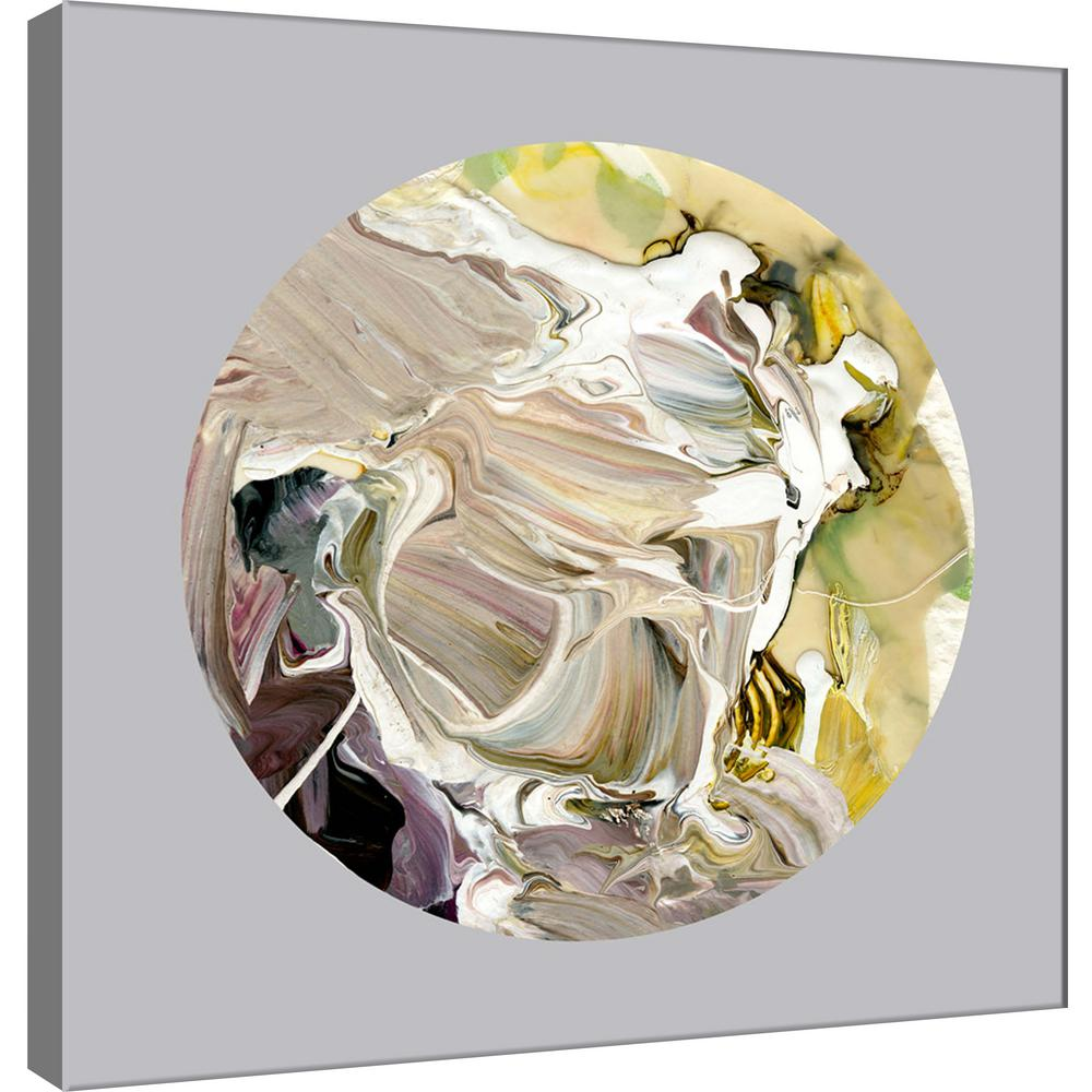 Ptm Images 15 In X 15 In Painterly Circle On Grey D Printed Canvas Wall Art