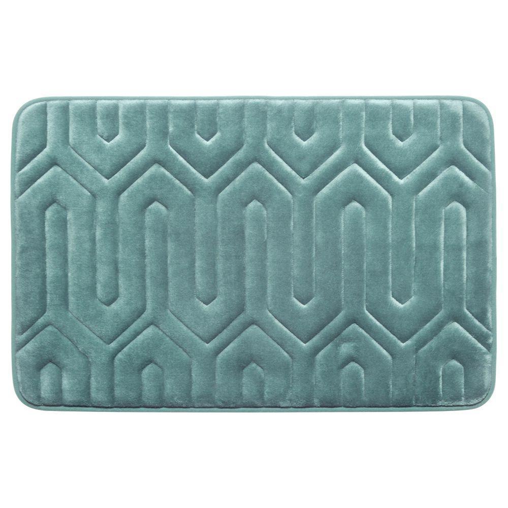 Croydex Pebbles Bath Mat In Blue Ag300024yw The Home Depot