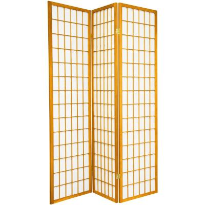 6 ft. Honey 3-Panel Room Divider