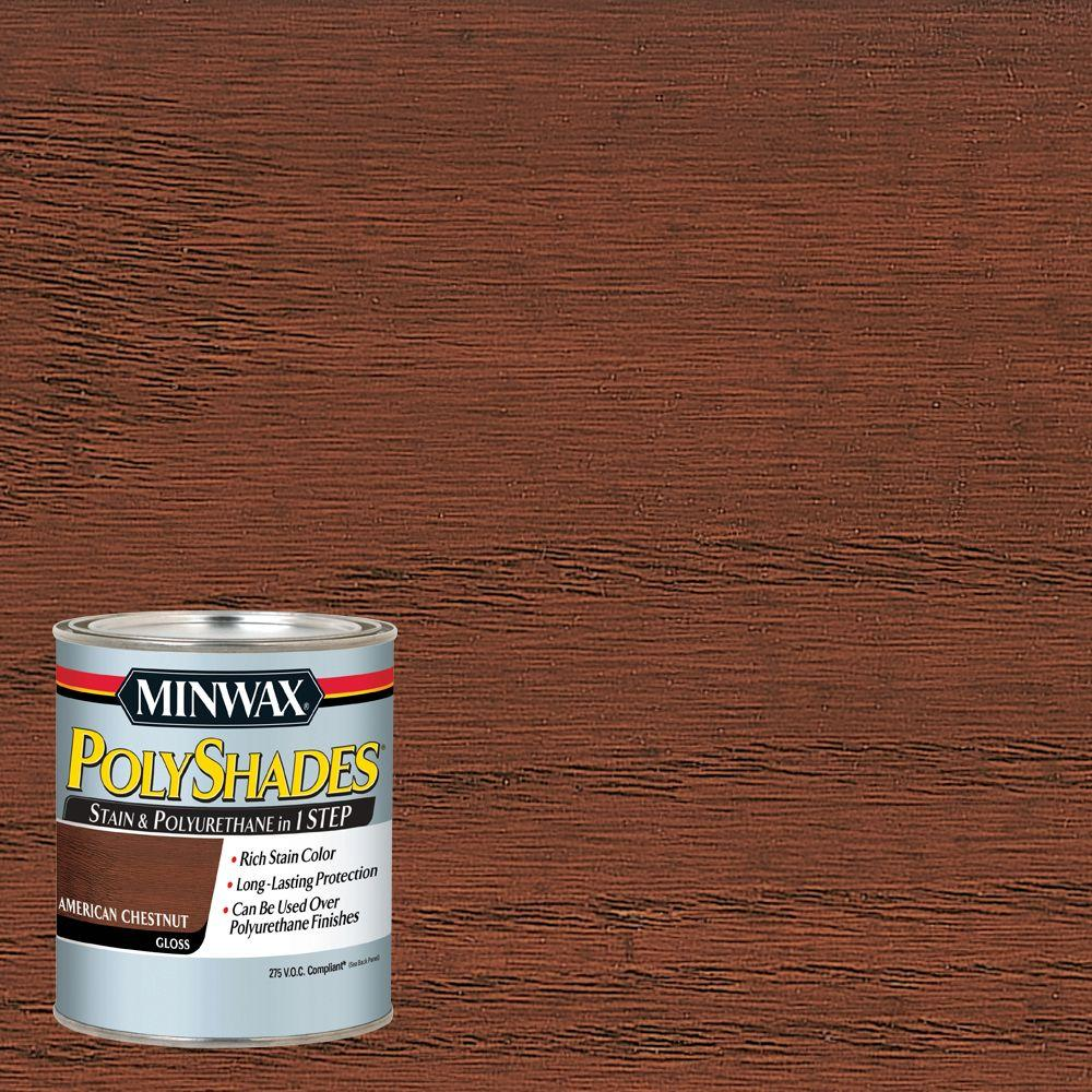 Minwax 1 Qt Wood Finish English Chestnut Oil Based Interior Stain 70044 The Home Depot