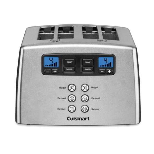Cuisinart Compact 2-Slice Black Stainless Steel Wide Slot Toaster CPT-320