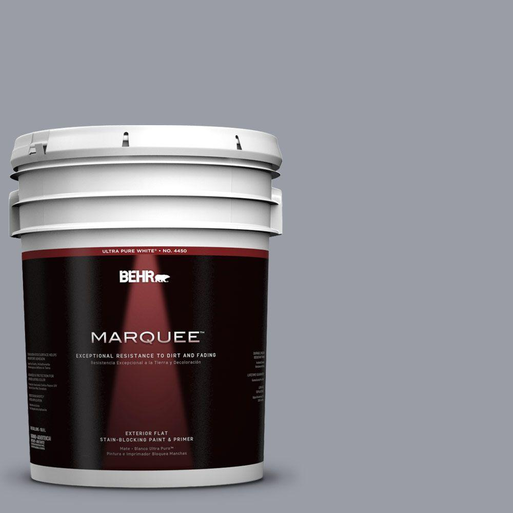 BEHR MARQUEE 5-gal. #760F-4 Down Pour Flat Exterior Paint