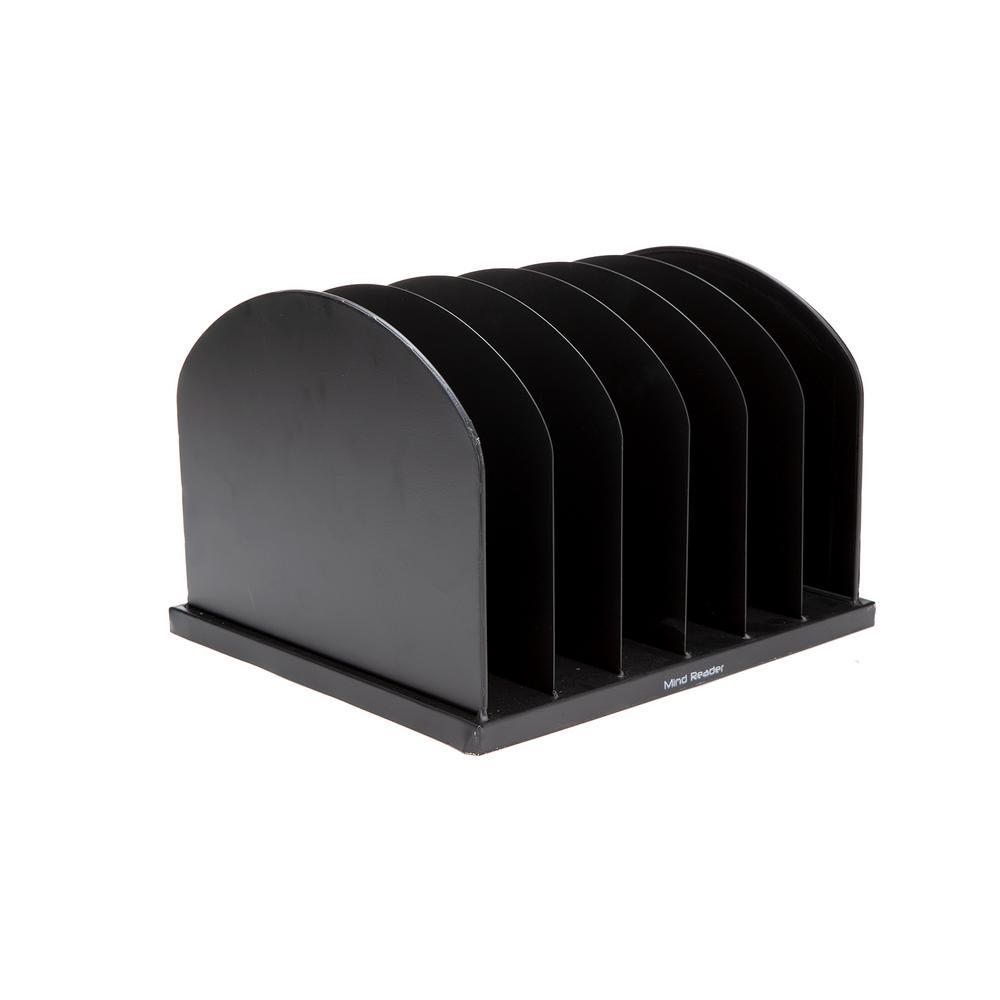 Mind Reader Metal 6 Slot for Desktop Organizer