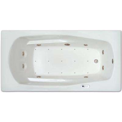 5.5 ft. Right Drain Drop-in Rectangular Whirlpool and Air Bath Tub in White with Tranquility Package