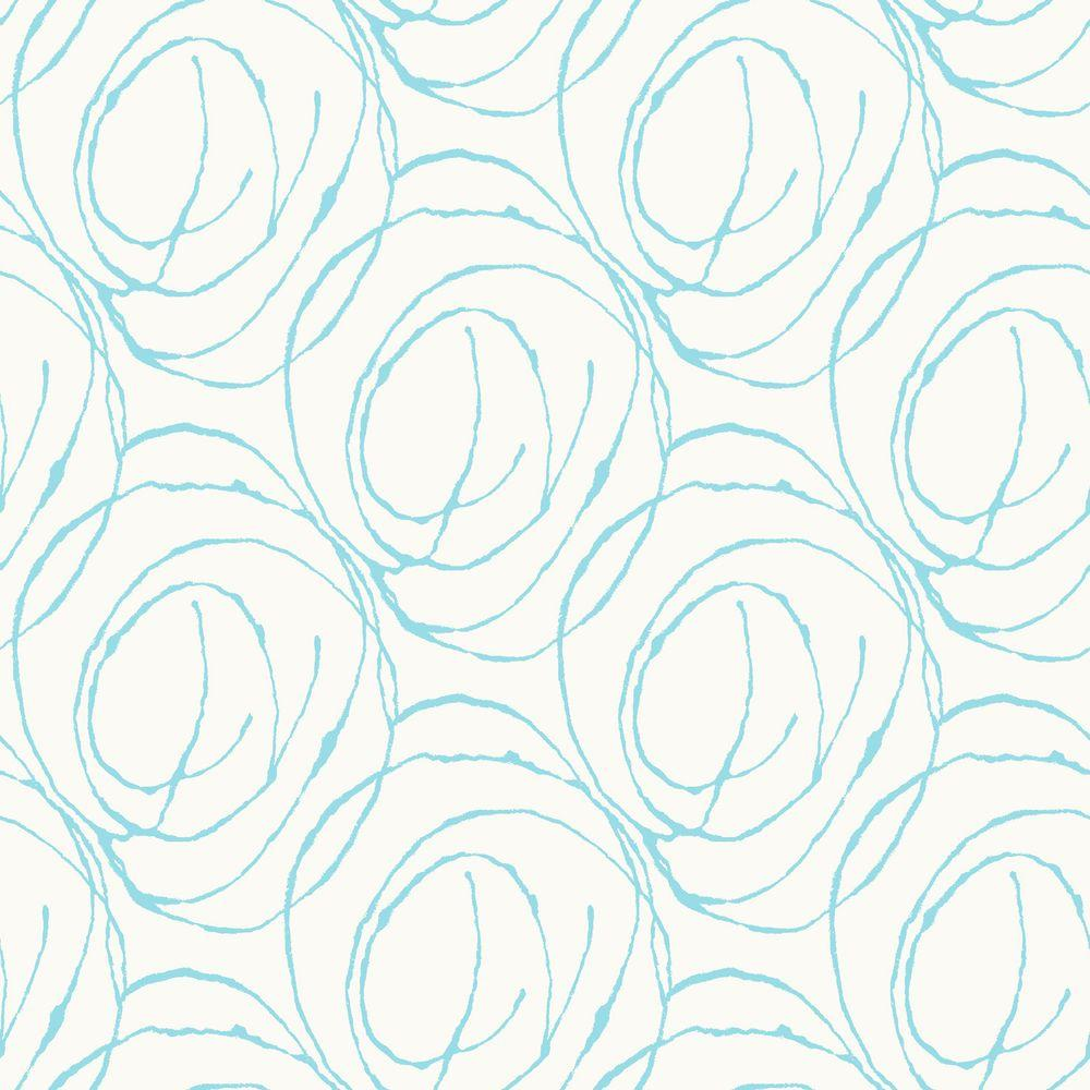 York Wallcoverings 56 sq. ft. Scribble Wallpaper-DISCONTINUED
