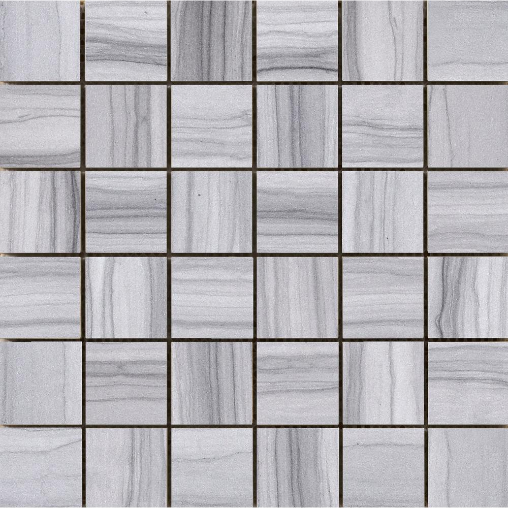 Archive Record 12.01 in. x 12.01 in. x 10mm Porcelain Mesh-Mounted