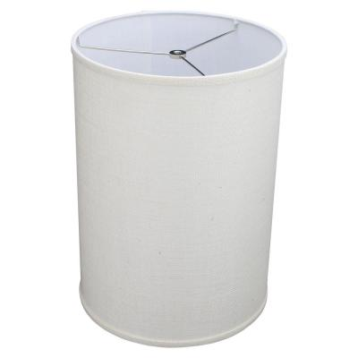 12 in. Top Diameter x 12 in. Bottom Diameter x 14 in. H Drum Burlap Off White Lamp Shade