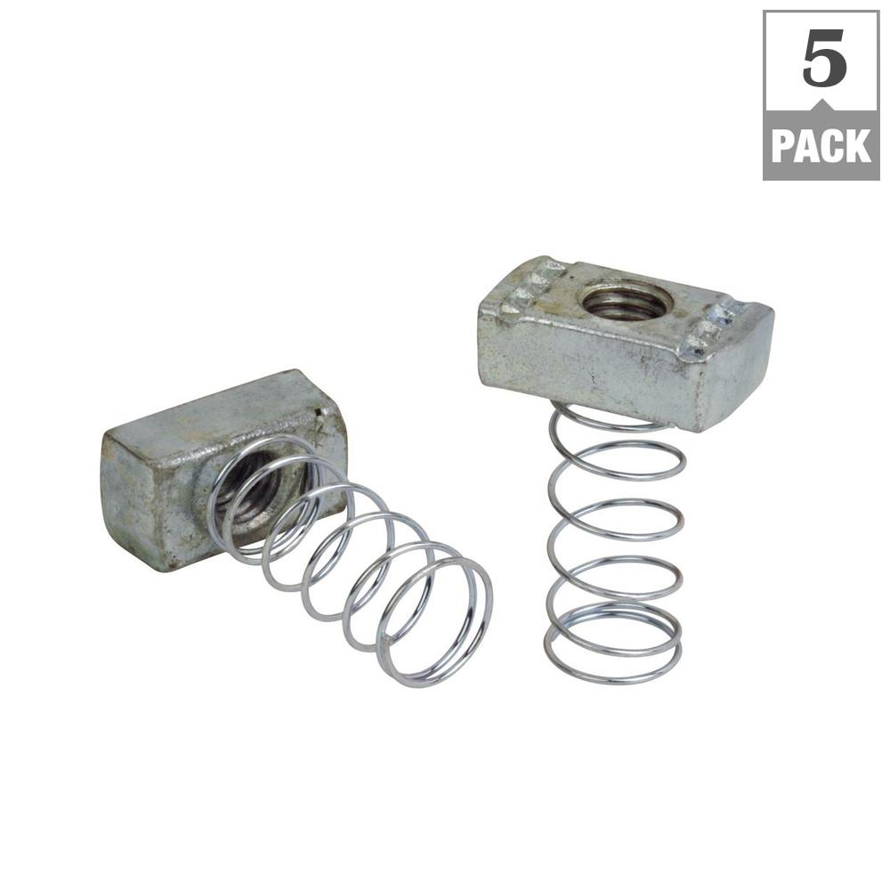 Superstrut 3 8 In Strut Channel Spring Nut 5 Pack