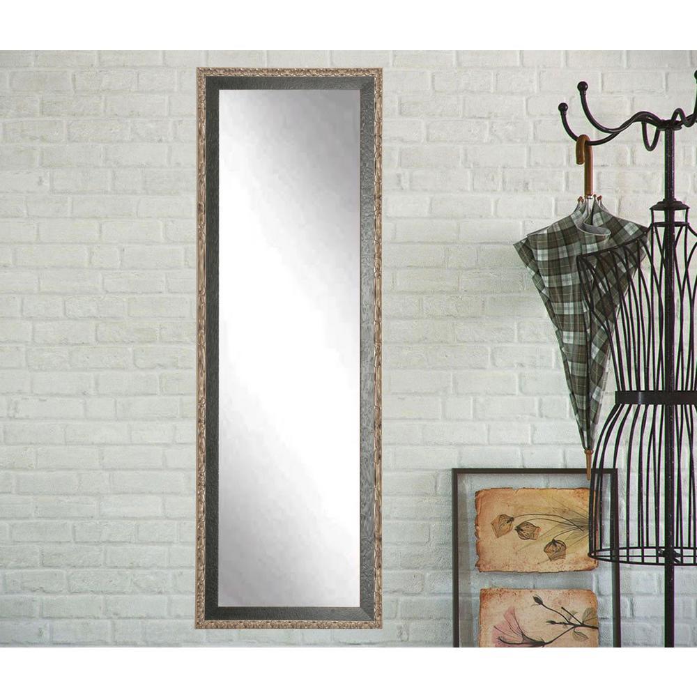 Noble Black and Pewter Full Length Framed Mirror