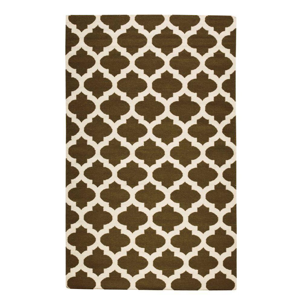 Home Decorators Collection Allure Khaki/Cream 3 ft. x 5 ft. Area Rug