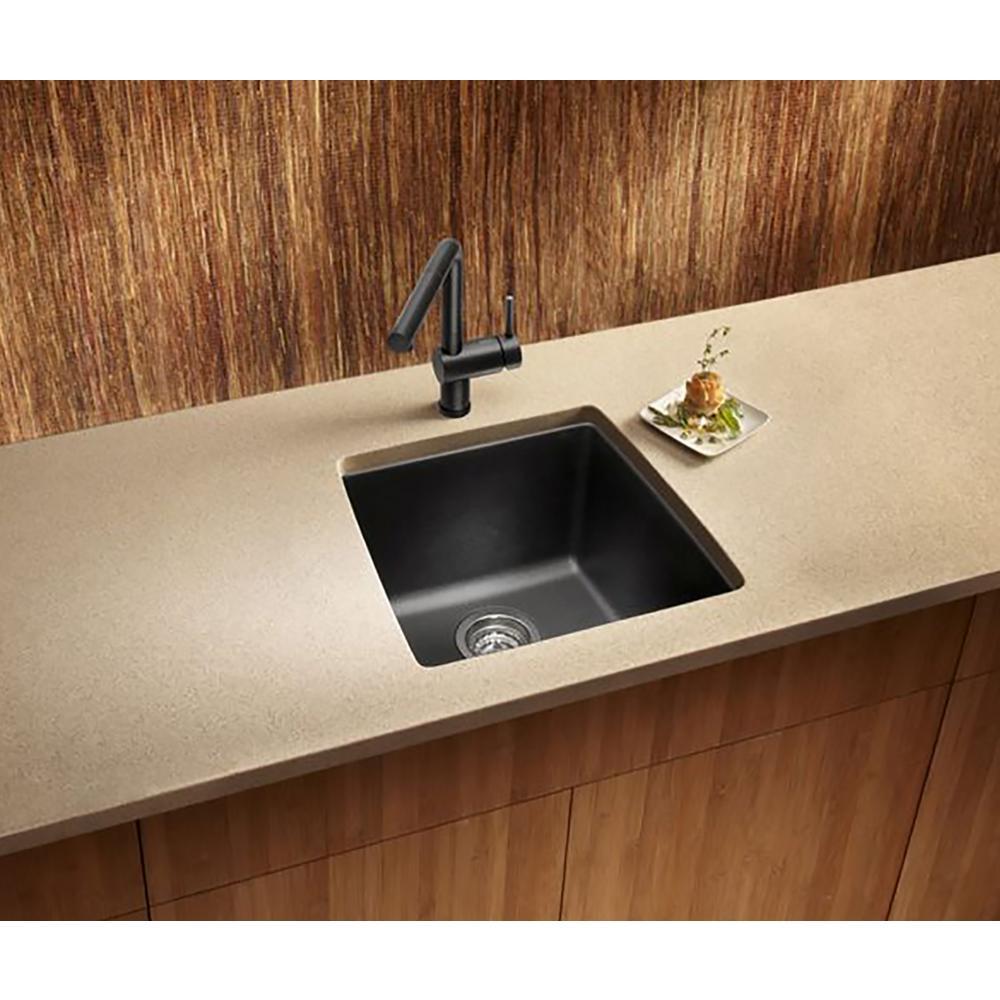 Blanco PERFORMA Undermount Granite Composite 17.5 in. Single Bowl Bar Sink  in Anthracite
