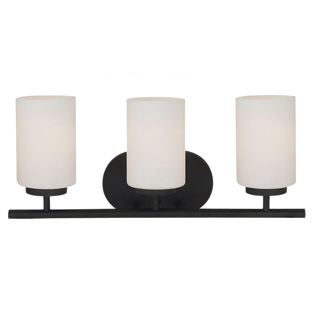 Sea Gull Lighting Oslo 3-Light Blacksmith Vanity Light