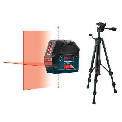 165 ft. Self Leveling Cross Line Laser with Free Compact Tripod with Extendable Height
