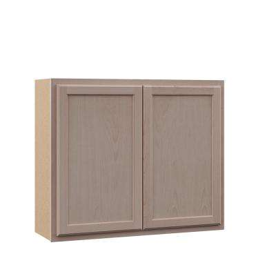 Hampton Unfinished Assembled 36x30x12 in. Wall Kitchen Cabinet in Beech