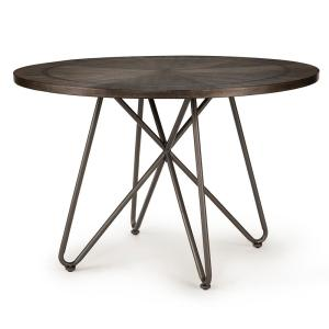 HomeDepot.com deals on Steve Silver Derek Round Grey Dining Table