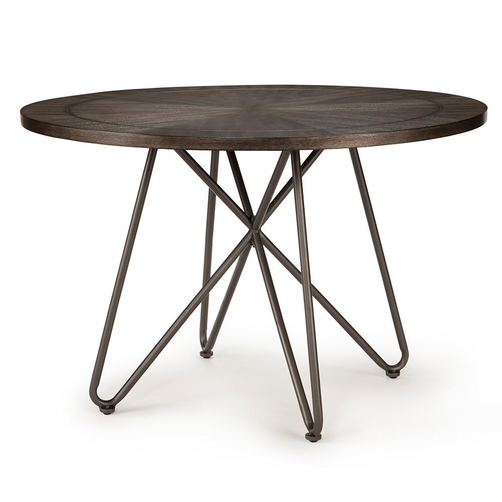 Derek Round Grey Dining Table Dk450tb