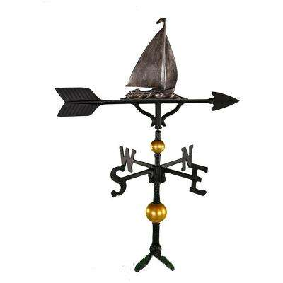 32 in. Deluxe Swedish Iron Sailboat Weathervane