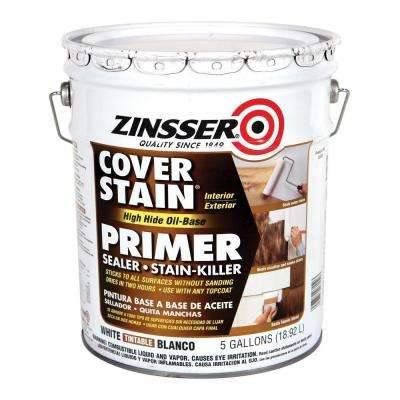 5 Gal. Cover Stain High Hide White Oil-Base Interior/Exterior Primer and Sealer