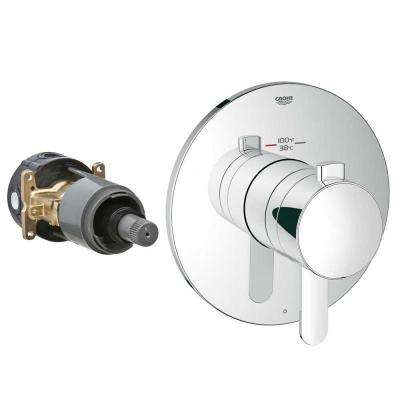 Cosmopolitan Single Handle GrohFlex Universal Rough-In Box Single Function Thermostatic Kit in Chrome