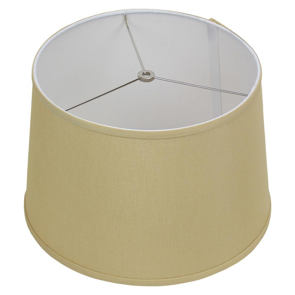 Fenchel Shades 13 in. Top Diameter x 15 in. Bottom Diameter x 10 in. Slant,  Empire Lamp Shade - Designer Chintz Tan