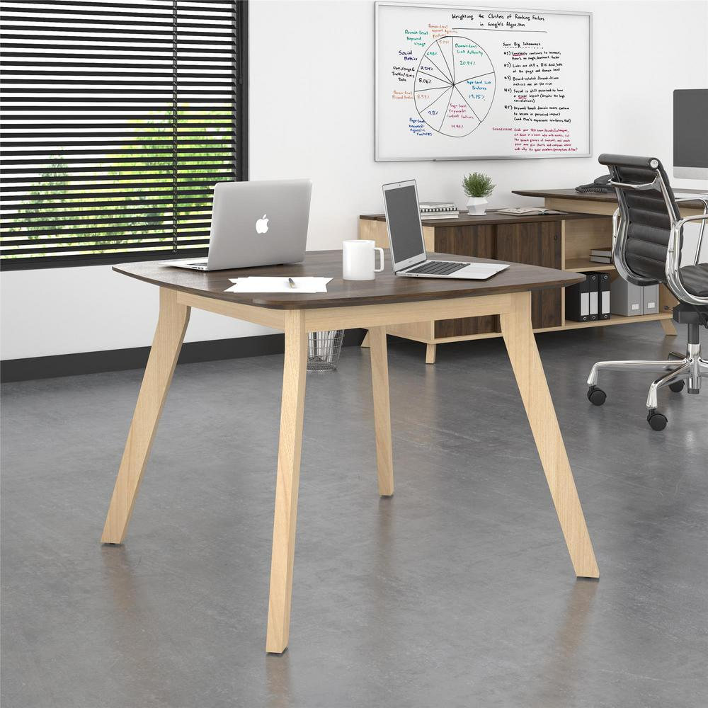 AX1 Walnut Square Meeting Table