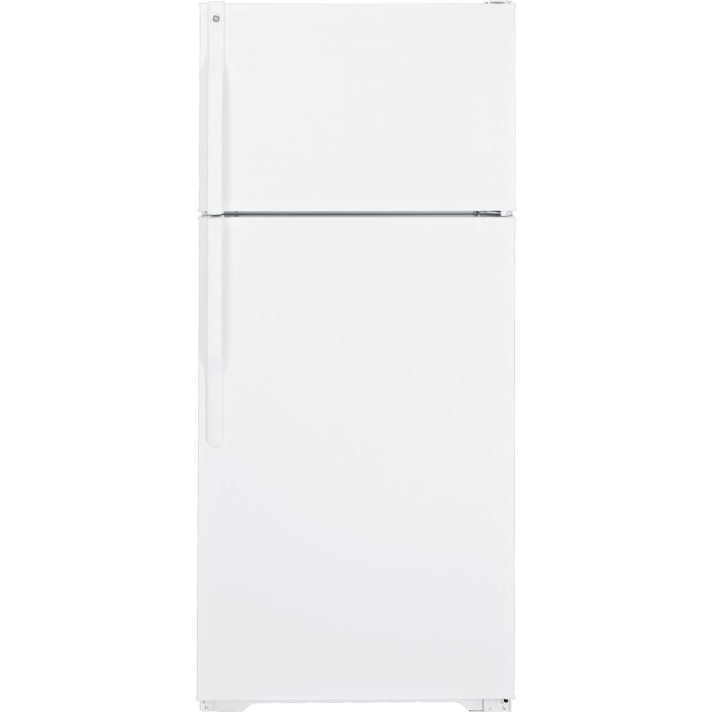 GE 28 in. W 16.5 cu. ft. Top Freezer Refrigerator in White