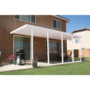 Integra 22 Ft X 10 Ft White Aluminum Attached Solid