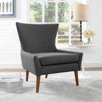 Keen Gray Upholstered Fabric Armchair