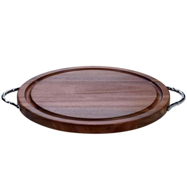 Certified International Acacia Wood Brown 19.5 in. x 16 in. Round