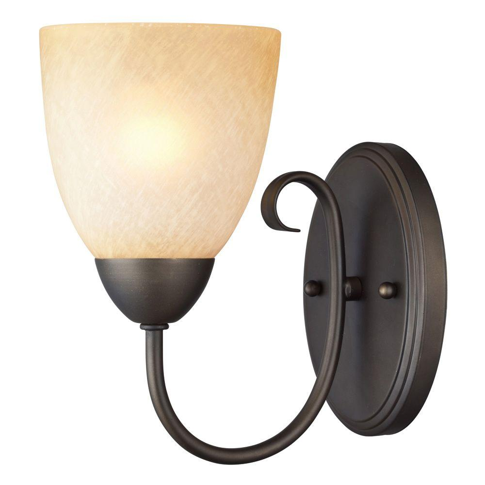 Westinghouse Chapel Hill 1-Light Oil Rubbed Bronze Wall Fixture