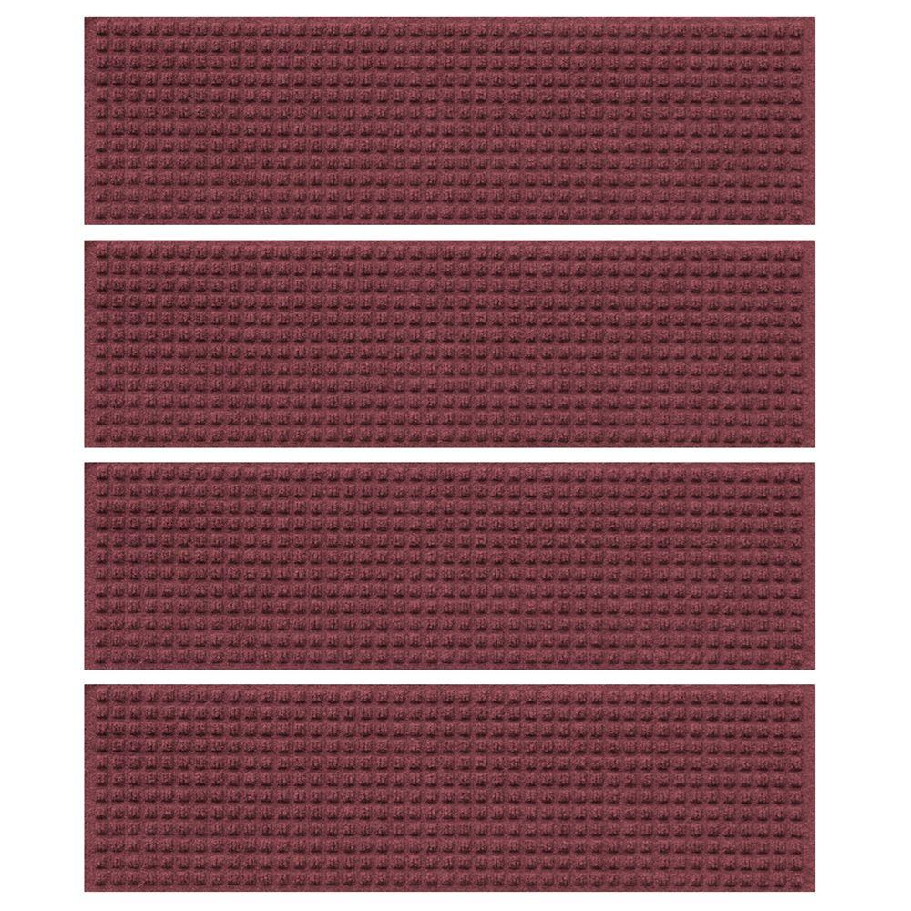 Bordeaux 8.5 in. x 30 in. Squares Stair Tread Cover (Set